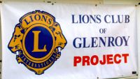Banner saying Lions Club of Glenroy Project